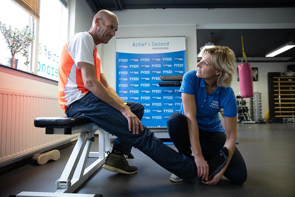 afbeellding fysiotherapie behandeling actief&gezond door fysiotherapeute