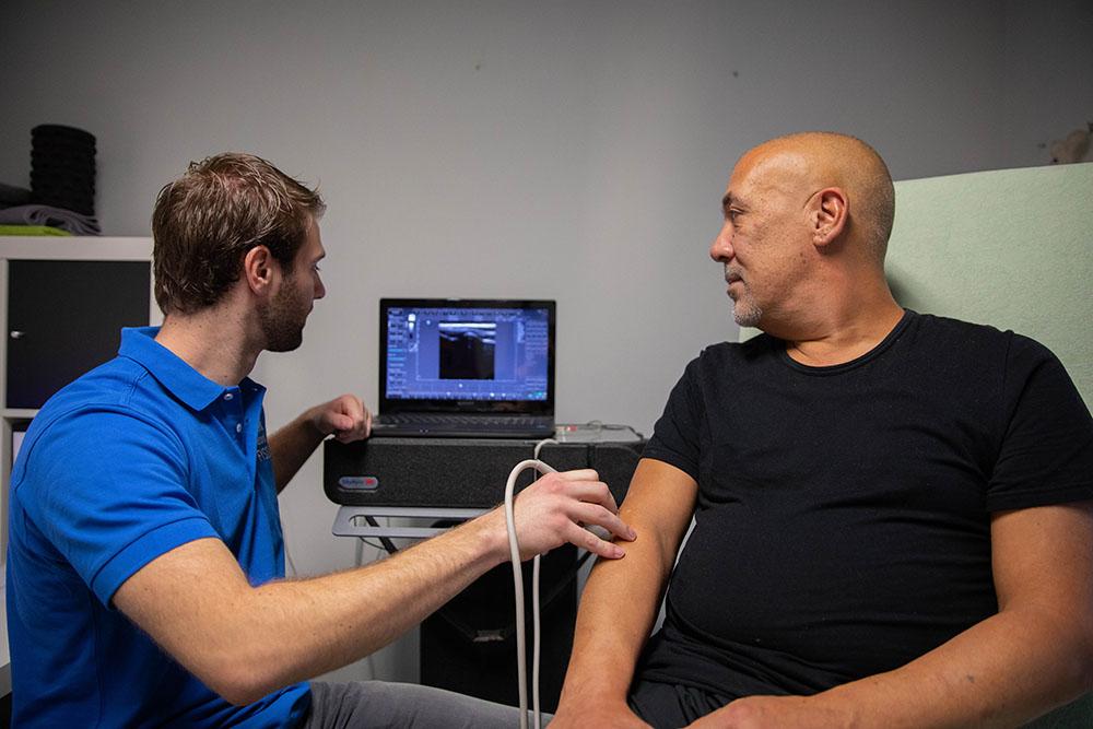 afbeelding echografie behandeling fysiotherapeut in den haag